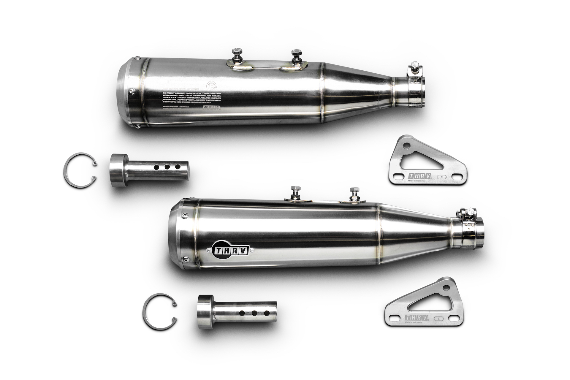 Peony Slip-On Mufflers for Royal Enfield